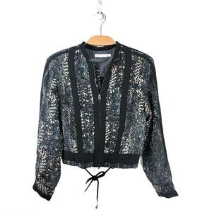 See By Chloe Lightweight Bomber Jacket Size 4